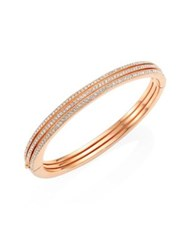 Adriana Orsini Rosy Thick Pave Bangle Rose Gold