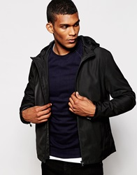 Reiss Hooded Casual Jacket Black