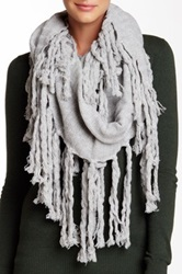 Bickley Mitchell Wool Blend Infinity Scarf Gray