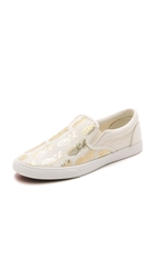 Bucketfeet Pineappleade Slip On Sneakers Beige Gold