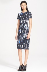 Mcq By Alexander Mcqueen Print Stretch Cotton Pencil Dress Richter