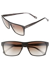Jack Spade 'Hughes' 59Mm Sunglasses Matte Black Brown Gradient