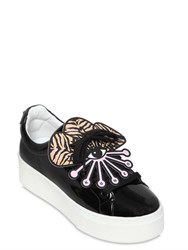 Kenzo 45Mm Eye Faux Patent Leather Sneakers