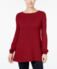 Styleandco. Style Co. Bishop Sleeve Tunic Sweater Only At Macy's New Red Amore