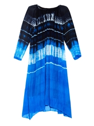 Raquel Allegra Tie Dye Silk Chiffon Dress
