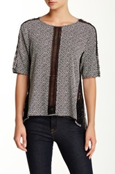Yoana Baraschi Senegal Tile Lattice Tee Gray