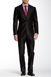 English Laundry Black Metallic Detail Two Button Notch Lapel Suit