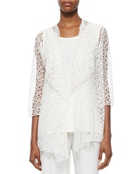 Caroline Rose Crochet Draped Jacket