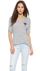 Zoe Karssen Palm Tree Tee Grey Heather