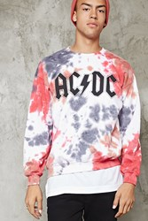 Forever 21 Tie Dye Acdc Graphic Pullover