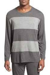 Daniel Buchler Wide Stripe Long Sleeve T Shirt Black