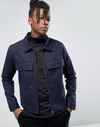 Only And Sons Utility Jacket With Large Pockets Navy