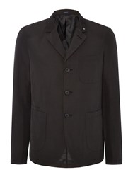 Peter Werth Stoker Wing Poly Patch Pocket Blazer Black