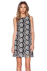 Sam Edelman Dloral Razor Back Cut Out Dress Black And White
