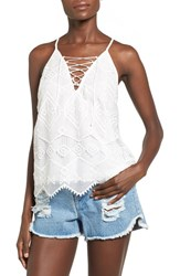 Women's Astr Lace Up Embroidered Camisole