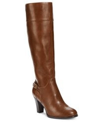 Giani Bernini Boelyn Tall Wide Calf Riding Boots Only At Macy's Women's Shoes Cognac