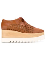 Stella Mccartney 'Canyon Wicker Elyse' Lace Up Shoes Brown