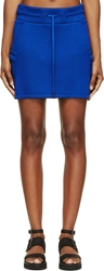 Helmut Lang Cobalt Blue Sponge Fleece Neo Mini Skirt
