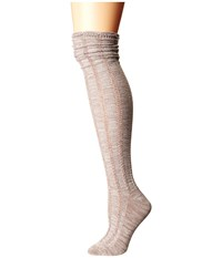 Free People Fray Over The Knee Socks Khaki Women's Thigh High Socks Shoes