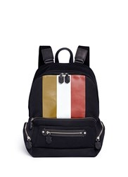 Ghurka 'Weston Ii' Stripe Print Backpack Multi Colour