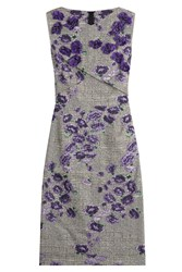 Jason Wu Sleeveless Dress With Floral Applique Multicolor