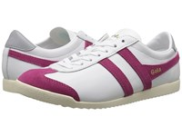 Gola Bullet Leather White Hot Fuchsia Women's Shoes