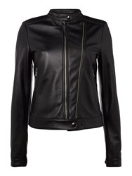 Replay Calfskin Biker Jacket Black