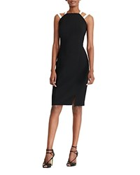 Ralph Lauren Contrast Strap Sheath Dress Black Pearl