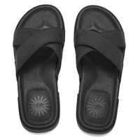 Ugg Australia Men's Ithan Nubuck Slide Sandals Black