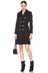 Burberry London Whittingstall Military Style Trench In Blue