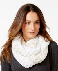 Collection Xiix Bubble Stitch Angelica Faux Fur Loop Scarf