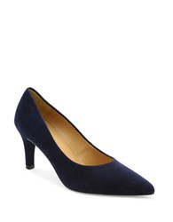 Andre Assous Onassis Suede Pumps Navy Blue