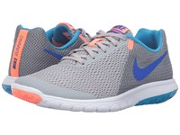 Nike Flex Experience Rn 5 Wolf Gray Racer Blue Anthracite Bright Mango Women's Running Shoes