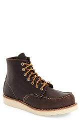 Red Wing Shoes Men's 6 Inch Moc Toe Boot Ebony Harness Brown Leather