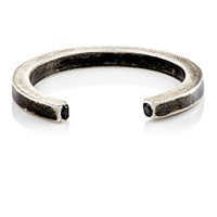 Title Of Work Men's Open Band Ring Silver