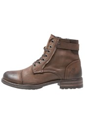 Marc O'polo Laceup Boots Mocca Dark Brown