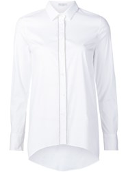 Brunello Cucinelli Curved Hem Shirt White