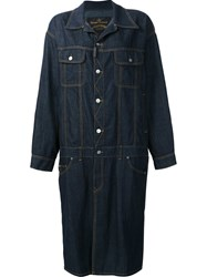 Vivienne Westwood Anglomania Oversized Shirt Dress Blue