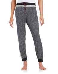 Dkny Printed Sleep Jogger Pants Black