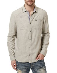 Buffalo David Bitton Silexi Long Sleeve Shirt Cream