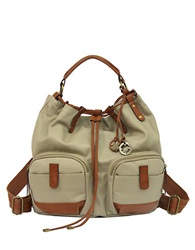 Lucky Brand Carly Waxed Canvas Backpack Khaki