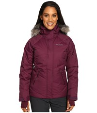 Columbia Lay 'D' Down Jacket Purple Dahlia Dobby Women's Coat