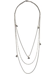 Emanuele Bicocchi Triple Wrap Charm Necklace Metallic