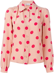 Red Valentino Polka Dot Blouse Pink And Purple