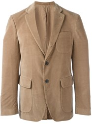 Wooster Lardini Notched Lapel Blazer Nude And Neutrals