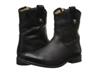 Frye Melissa Button Short Black Washed Antique Pull Up Cowboy Boots
