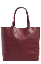 Sole Society Oversize Faux Leather Shopper Red