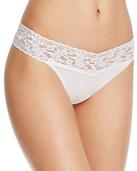 Hanky Panky Thong Cotton With A Conscience Original Rise 891801 White