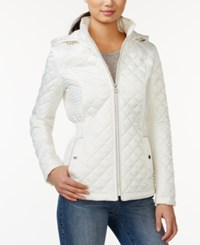 Laundry By Design Short Hooded Quilted Jacket Cloud