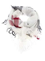 Burberry London 'House' Check Scarf White